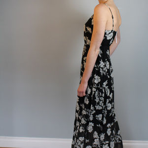 J. Crew Dresses - J. Crew Black floral maxi dress